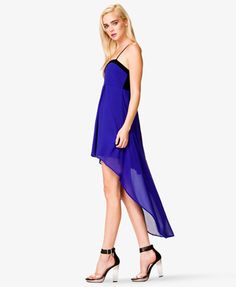 Chiffon High-Low Dress | FOREVER21  - mmm cobalt