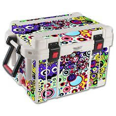 MightySkins Protective Vinyl Skin Decal for Pelican 35 qt Cooler wrap cover sticker skins Circle Explosion *** You can find more details by visiting the image link.(This is an Amazon affiliate link and I receive a commission for the sales)