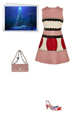"""#5663 - Its beginning to look a lot like Christmas"" by pretty-girl-in-fashion ❤ liked on Polyvore featuring RED Valentino, Miu Miu, Fendi, Christmas, valentino, fendi and miumiu"