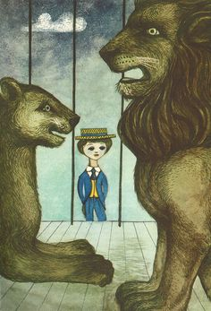 "Illustration by Jerzy Srokowski | from ""King Matt the First,"" (1922) by Polish writer and children's rights activist Janusz Korczak. Read more about Korczak here: http://en.wikipedia.org/wiki/Janusz_Korczak"