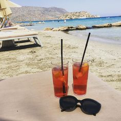 "The Champagne Mile ✈️ (@champagnemile) on Instagram: ""Campari with a view #crete #travelblog #campari #love #greece"