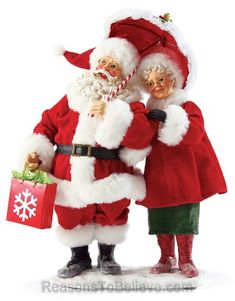 Let It Snow - Mr and Mrs Claus. Mr. and Mrs. Claus are used to the cold, snowy weather at the North Pole. When they have to do a little Christmas shopping, they are always prepared. Let it snow!