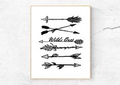 Wild One Arrow Nursery Wall Art Printable Quotes Birthday Prop Typography Home + Office Decor DIY Print Arrow Nursery, Nursery Wall Art, Printable Wall Art, Printable Quotes, Gender Neutral Colors, 1st Birthday Photos, Wild Ones, Wall Art Quotes, Nursery Themes