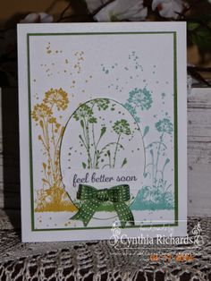 Stampin' Up! serene silhouettes, gorgeous grunge, express yourself, get well soon, hand stamped sentiments