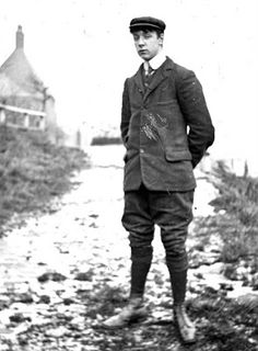 Tour Scotland Photographs: Old Photograph Young Man Pitlochry Highland Perthshire Scotland