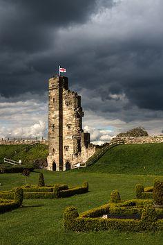 Medieval Tutbury Castle in Staffordshire, England