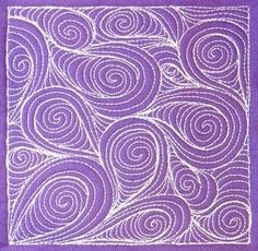 Paisley free motion quilting by gena