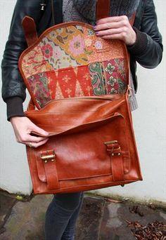 pattern postman bag