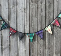 Cute idea for wedding decorations - tartan bunting!