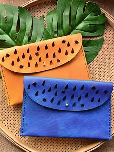 Dancing in the Rain Clutches - Available in different colours - genuine leather - Marco Visconti