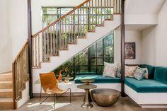 Venice Beach House – Millwood One by Kim Gordon Design Kim Gordon, Canapé Design, House Design, Interior Design, Venice Beach House, Yellow Couch, Glass House, Inspired Homes, Mid Century Design