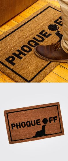 Make your guests feel (un)welcome with this funny outdoor welcome mat. How cute is that little seal? Phoque off! Welcome Mats, Seal, Cute, Outdoor, Seals, Outdoors, Harbor Seal, Outdoor Games