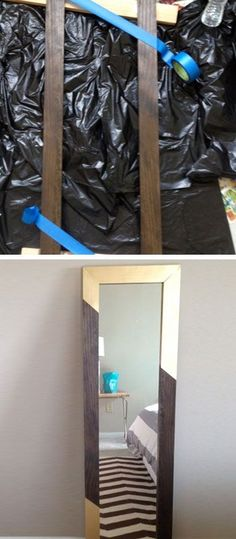Gold Dipped Mirror Frame - DIY Decorating Ideas for The Home - Click for Tutorial