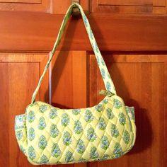 Vera Bradley Citrus Maggie Lime Green #WhiteElephant Purse Shoulder Bag #VeraBradley #MaggieHandbag #elephant