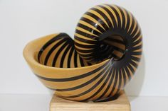 If you enjoy decorative artwork and wood carving, look at the detailed wooden nautilus shells made by RJ Art Works in Nashua, NH. Lathe Projects, Wood Projects, Projects To Try, Nautilus Shell, Sea Theme, Wooden Art, Wood Lathe, Scroll Saw, Camden