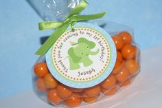 PRINTABLE - Sweet Safari, Baby Animals, Sweet at One Boy 1st Birthday Favor Tags by The Party Paper Fairy. $8.00, via Etsy.