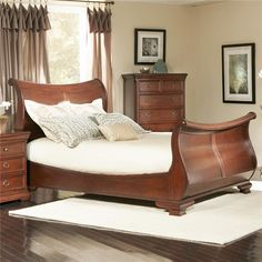 Marseille  King Sleigh Bed by Largo
