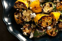 Grilled Summer Squash with Feta and Mint