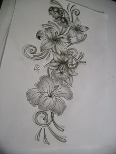 Tattoo | tattoo flower design by tattoosuzette designs interfaces tattoo design ...