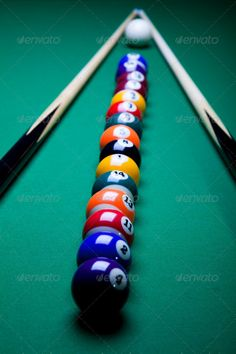 Snooker ...  Billiard balls, action, arrangement, background, ball, beginning, billiard, black, challenge, colorful, competition, contest, cue, eight, eleven, entertainment, fun, gamble, gambling, game, gradient, graphic, green, hobby, illustration, leasure, nine, number, object, one, orb, play, pool, pool balls, recreation, recreational, round, set, seven, shiny, snooker, sphere, sport, striped, success, symbol, table