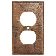 Premier Copper Products Copper Switchplate Single Duplex 2 Hole Outlet... ($63) ❤ liked on Polyvore featuring home, home decor, decorative hardware, brown, copper home decor, premier copper products, copper switch plates, copper light switch plates and copper switchplate