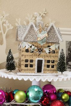 I think this little house is amazing! I am so hoping my favorite SVG creators are going to create a file that I can create a winter village!