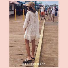 Acá el vestido estrella de mis vacaciones ! Para las que me preguntaron es de @payecloset que además de hacer ropa divina maquilla es pec ta cu lar! Cuenta recomendadisima: @payecloset    #dress #beach #playa #vestido #encaje #california #santamonica #relax #vestidoplayero #vestidos #moda #style #streetstyle #look #fashion #payecloset#apykahome @apykastore