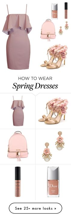 """""""First day of college"""" by ariella-loves on Polyvore featuring Rupert Sanderson, MICHAEL Michael Kors and Christian Dior"""