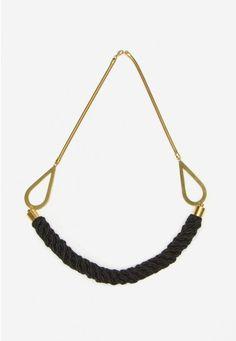 Cassia Necklace in Black - Jewelry