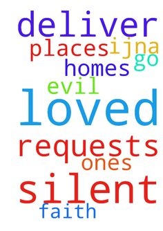 Lord, I pray the silent requests. Deliver me, loved - Lord, I pray the silent requests. Deliver me, loved ones, homes amp; places we go from evil. Thank You amp; for faith IJNA Posted at: https://prayerrequest.com/t/Noq #pray #prayer #request #prayerrequest