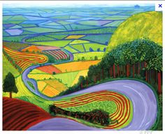 View Garrowby Hill by David Hockney on artnet. Browse more artworks David Hockney from ArtWise. David Hockney Prints, David Hockney Landscapes, David Hockney Paintings, Museum Logo, Museum Poster, Landscape Art, Landscape Paintings, Landscape Prints, Framed Art Prints