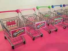 5 Shopkins Cart Party Favors by LittleArtistShop on Etsy