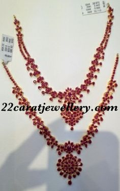 Jewellery Designs: Below 30 Gms Ruby Sets