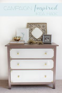 5 Incredible Makeovers IKEA Hack Painted Furniture DIY's - The Cottage Market --- add simple L brackets to corners for big impact!!