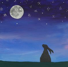 THE MOON GAZING HARE. sanctuary-witchcrafts