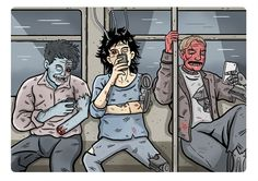 Andreas Denzer - Hamburger Illustrator & Designer - Smartphone Zombies • www.andreasdenzer.de