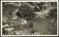 JACK THE GIANT KILLER'S WELL: St Michael's Mount, Cornwall (old postcard). ✫ღ⊰n