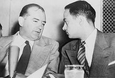 """1954, Apr. 22-June 17: The Army-McCarthy hearings, televised hearings by the Senate Subcommittee on Investigations to investigate conflicting accusations between the Army and Sen. Joseph McCarthy. The Army accuses Roy Cohn of pressuring it to give preferential treatment to G. David Schine, a former McCarthy aide and a friend of Cohn's. McCarthy counter-charges that the accusation is made in bad faith. Joseph Welch's """"Have you no sense of decency, sir?"""" is the beginning of McCarthy's…"""