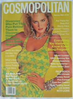 February 1986 cover with Ashley Richardson photographed by the late Francesco Scavullo Cosmopolitan Magazine, Instyle Magazine, Ashley Richardson, Francesco Scavullo, Cosmo Girl, Julie Christie, Chuck Norris, Cindy Crawford, Vintage Magazines