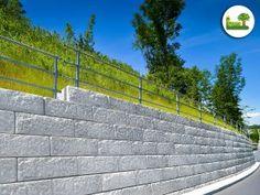 Dieses System kann natürlich auch im Verkehrsraum angewendet werden.  #Stützwand #Hangsicherung #Verkehr #gartenleber #modern #street #clean #concrete Sidewalk, Stairs, Gardening, Modern, Pictures, Deco, Stairway, Trendy Tree, Side Walkway