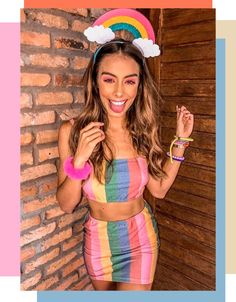 Carnaval 2020 Copy the look to enjoy your carnival 2020 # Costume Halloween, Purim Costumes, Cute Costumes, Halloween Costumes For Girls, Costumes For Women, Costume Women Diy, Carnival Outfits, Carnival Costumes, Trendy Halloween