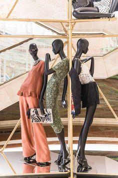Visual merchandising with Atrezzo mannequins at ZARA Milan Galeria Vitorio Emanuele