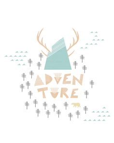 8x10 art print MOUNTAIN ADVENTURE, Forest, Mountains, Camping, Tents, Outdoors, Cottage, Cabin, Wall Decor, Home Decor, Modern, Nursery by papercanoedesign on Etsy https://www.etsy.com/ca/listing/278729670/8x10-art-print-mountain-adventure-forest
