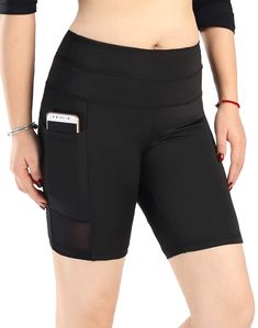 Apr 2020 - Womens Active Gym Workout Cycling Running Shorts - - - Sports & Fitness Clothing, Women, Shorts # # Running Wear, Running Shorts, Cycling Workout, Gym Workouts, Women Shorts, Gym Shorts Womens, Yoga Pants With Pockets, Waist Workout, Sport Shorts