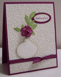 Very striking thinking of you card - ornament punch vase
