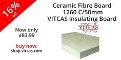 Ceramic Fibre Board 1260 C/50mm-VITCAS Insulating Board now 16% off! Buy now: http://shop.vitcas.com/ceramic-fibre-board-1260-c50mm-vitcas-insulating-board-855-p.asp