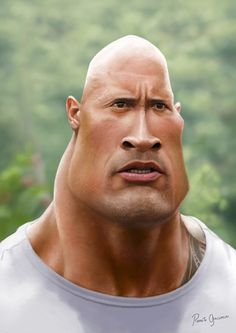 Caricature of Dwayne (The Rock) Johnson on Behance