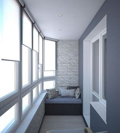 This is a very harmonious space of blues. Interior Balcony, Apartment Balcony Decorating, Apartment Balconies, Apartment Design, Small Space Interior Design, Home Room Design, Interior Design Living Room, House Design, Small Balcony Decor