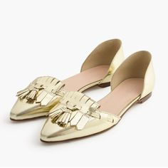HOST PICKJ Crew shoes New with tag. Mirror metallic gold. J. Crew Shoes