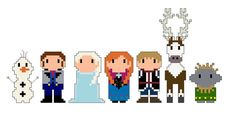 Frozen Pixel People Character  PDF pattern by by CheekySharkLabs